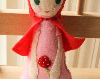 Gnome Girl Plushie. Woodland Doll. Softie. Felt Doll.