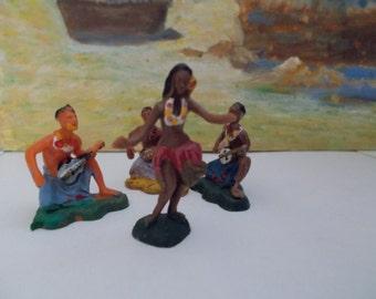 Vintage Hawaiian Plastic Figures