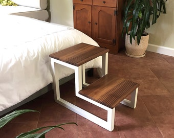 Customizable Color/Wood Large 2 step Open Air Pet Steps