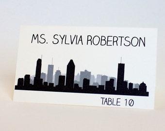 Montreal Place Card Skyline Custom Escort Card Seating Name Guest Card Wedding Decor Canada