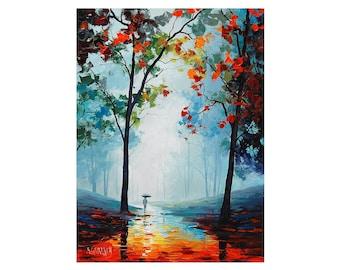 Painting print, Autumn print, trees print, Autumn painting, Fine art print