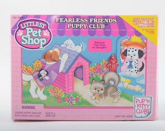 Fearless Friends Puppy Club, Feeding Center, Vintage, Littlest Pet Shop, Kenner, Playset, Boxed, Miniature, Toys ~ The Pink Room ~ 160913