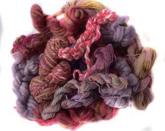 Mixed fiber bundle - weaving - knitting - scrap  - 100g / 3.5 oz - TWIDDLY BITS