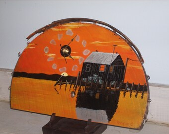 Shanty Sundown  mantel clock
