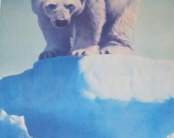 "Fred Machetanz ""Face to Face"" Limited Edition Alaskan Artist Lithograph / Polar Bear Art"