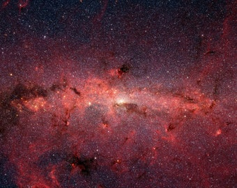 A Cauldron of Stars at the Galaxy Center photography, Space photography, Wonderful gift, Photo print