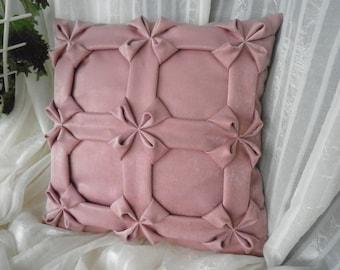 Dark Velvet Cushion Pink Pillow Cover, Decorative Pillow, Pink Pillow, Pink Cushion, Pink Velvet Cushion Cover, Dark Pink Pillow