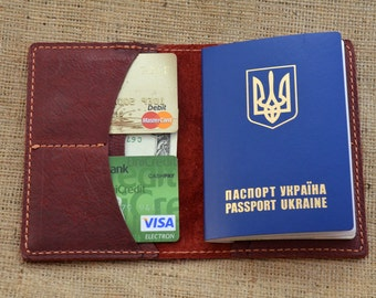 Leather passport wallet leather passport cover passport holder leather wallet