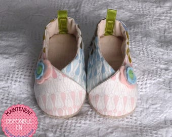 Toddler Fabric Kimono Slippers Sewing Pattern / 7 sizes / Pdf and Tutorial Sewing Pattern / Modèle de couture soulier Enfant