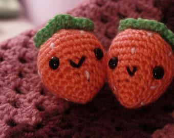 Pink Strawberry - Keychain