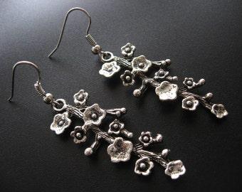 Cherry Blossom Earrings, Cherry Blossom Jewelry, Flower Earrings, Flower Jewelry, Branch Earrings, Branch Jewelry,Tree Earrings,Tree Jewelry