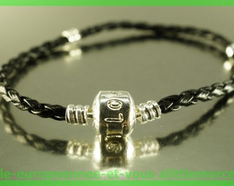 love for leather N100 European Bead Bracelet 20cm charms