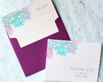 FREE SHIPPING & PERSONALIZATION Thank You From Mr and Mrs Wedding Stationery Set | Wedding Note Card Set | Bridal Shower Gift for Bride