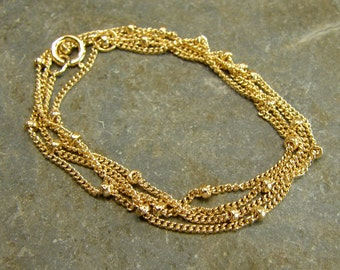 Gold Filled Satelite Chain - 16 Inch With Clasp - One Piece - gfsat16