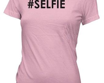 Selfie Hashtag Funny Instagram T-Shirt for Juniors