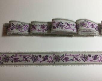Provence French Inspired Ribbon, paisley  Ribbon Trim, Vintage Floral Rose Trim, Floral Ribbon Trim, Vintage Inspired Ribbon,  Trim Ribbon