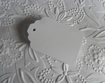 25 White Gift Tags-50-100-Hang Tags-Price Tags-Blank-Favor Tags