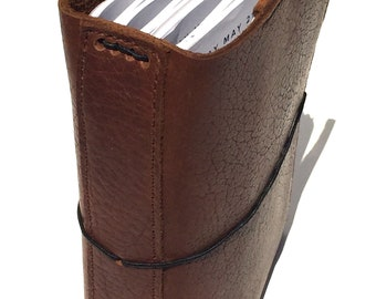 Bison Travelers Notebook, Soft High Quality Leather with Pockets