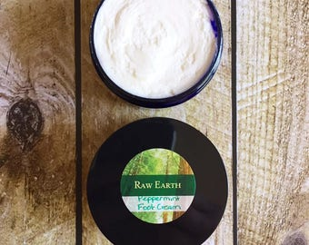 Peppermint Foot Cream, Soothing Peppermint Cream, Foot Cream, Chemical Free Foot Cream, All Natural Foot Cream, Sore Feet, Tired Feet
