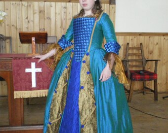 Custom Made/ Made to Measure Historical Robe à L'Anglaise