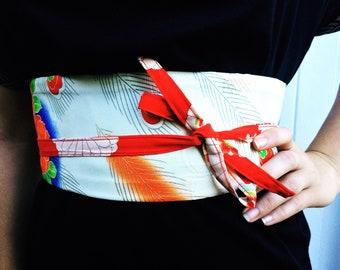 Japanese Obi Belt, Bridal Accessories, Kimono, Upcycled, Japanese Fabric, Wrap, Wedding Gift, Fabric Belt, Sash, Vintage, Ethical Fashion.