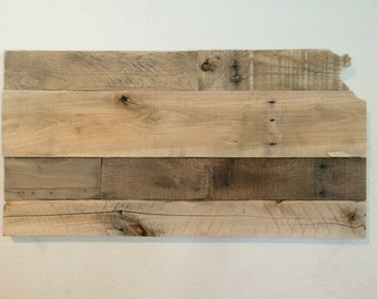 Kansas State Sign | Reclaimed Wood | Pallet Sign | Home Decor | Wall Art | Rustic Decor | Barn wood |