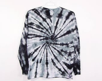 Tie Dye T Shirt Large Long Sleeve Spiral Adult