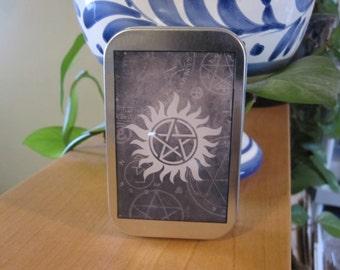 Supernatural Anti Possession Pentagram Stash Box Tin