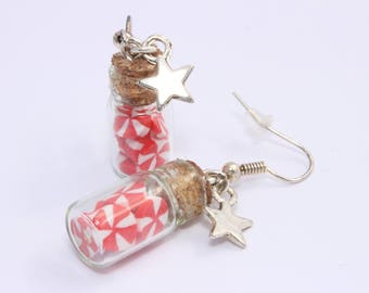 Vials candy Carnival jewelry polymer clay food earrings