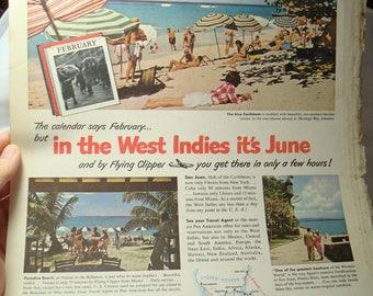 1948 Fortune Magazine Pan American World Airways Ad.