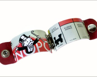 Monopoly Game Cuff, Monopoly Jewelry, Monopoly Man, Board Game Accessories, Board Game Jewelry