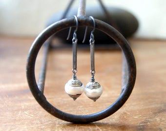 Tibetan Pearl Earrings