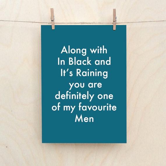 Favourite Men Card, Funny Love Card, Funny birthday card, funny Valentines card, Funny man card