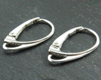 Sterling Silver Contemporary Lever Back ~ PAIR