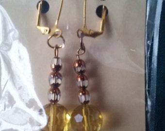 Golden Topaz Earrings