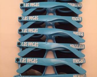 Personalized Sunglasses, Las Vegas Bachelorette, Bachelorette Party, Bachelor Party, Stag Party, Custom Sunglasses, Wedding Favors