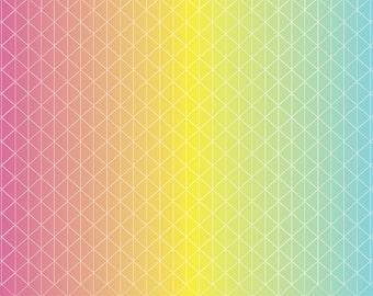 Ombre geometric pattern