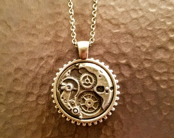Watchworks steampunk pendant necklace