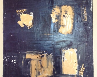 Black and Yellow Abstract