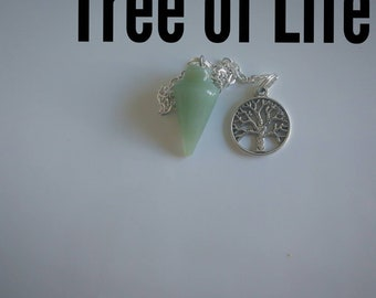 """Code 505 An Angel and the Fairies original, this is called our """"Tree of Life"""" pendulum aventurine"""