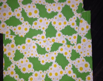 Two Panels Crazy Daisy Fabric