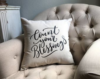 Pillow Cover- count your blessings