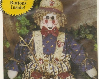 "Rustic Character Doll (Scarecrow) – Unopened Pattern Ray McDuffey Snips 'n Snails #448 ""RAY"" – Great DIY Craft Pattern"
