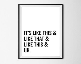 Hip Hop Art, Nuthin But a G Thang, Snoop Dogg Lyrics, Printable Wall Art #135