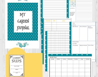 Garden Journal Printable, Garden Planner, Garden Planning, Garden Organizing, Gift For Her, Gift For Him, Mom Gift, Garden Notebook
