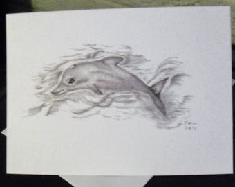 Greeting Cards / Dolphin Greeting Cards / Dolphin Note Cards /  Blank Cards / Just Because Cards / Art / Stationery   N27