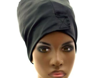 Satin Head-Wrap Cap- Wear Under Head Wrap