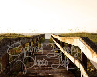 Sunrise at the Beach Photography, Carolina Beach, Photography, Boardwalk, Print, Morning at the Beach, Early Morning, Sunrise Photography