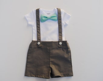 Baby boy Shorts and supsender outfit