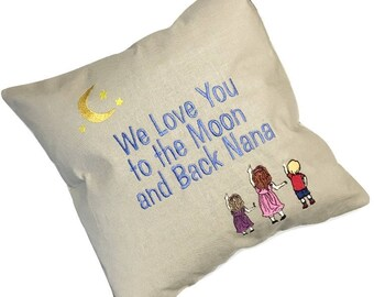 Gift for Mommy, Mommy Gifts, Gifts for Mom,Love You Mom Gift, Mom Gift, Love You To The Moon and Back Pillow, Love You To The Moon and Back